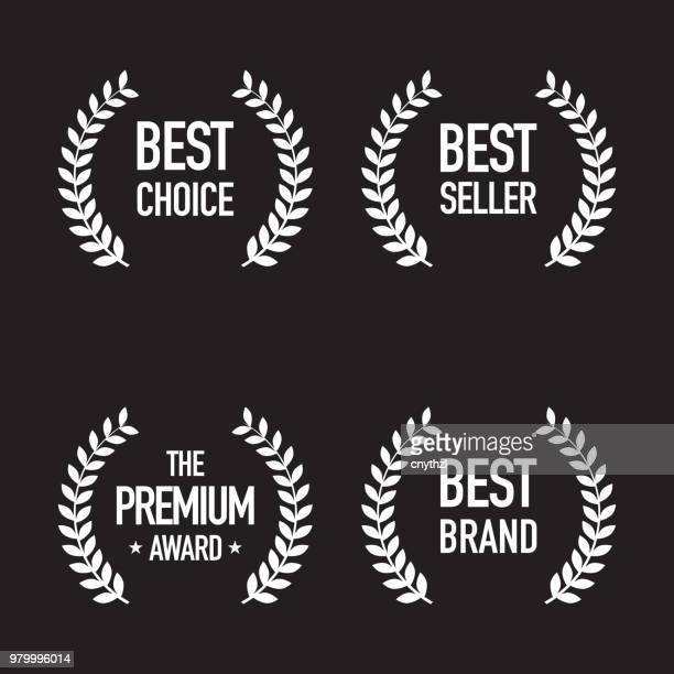 set of shopping badges - success stock illustrations