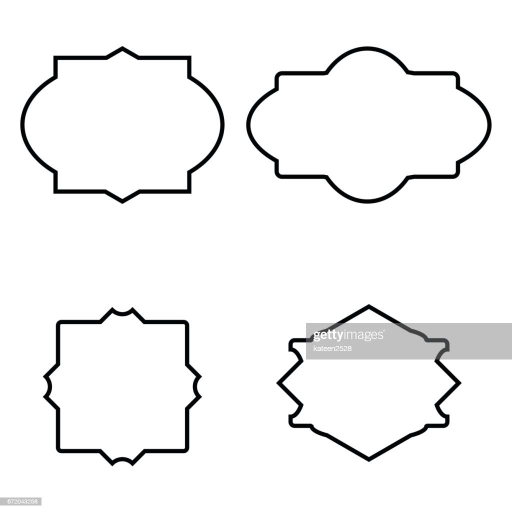 Set Of Simple Frames Vector Art | Getty Images