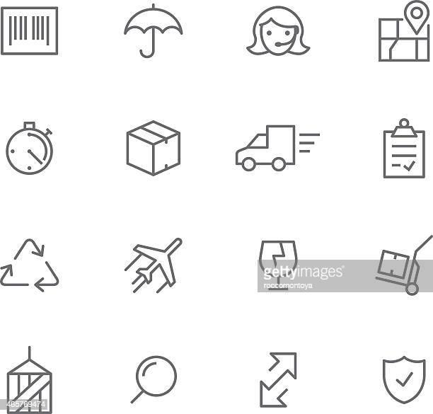 アイコンセット、物流 - 荷積み場点のイラスト素材/クリップアート素材/マンガ素材/アイコン素材