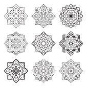 Set of simple mandalas.