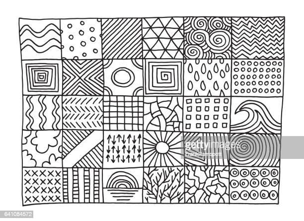 Satz von einfachen Muster Zeichnung