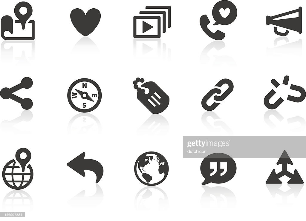 Set of simple social communication icons