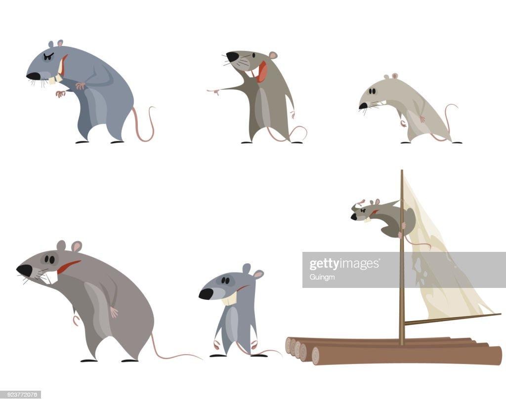 Set of six rodents