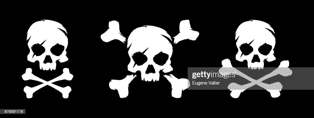Set of skull and bones