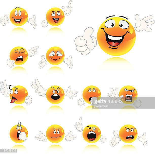 Set of Smiley Characters
