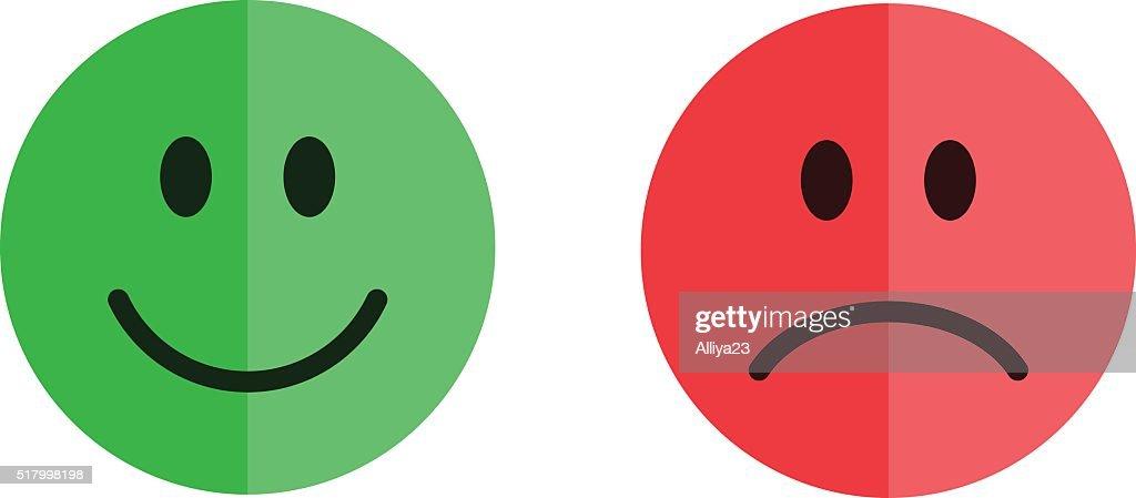 Set of smiley emoticons