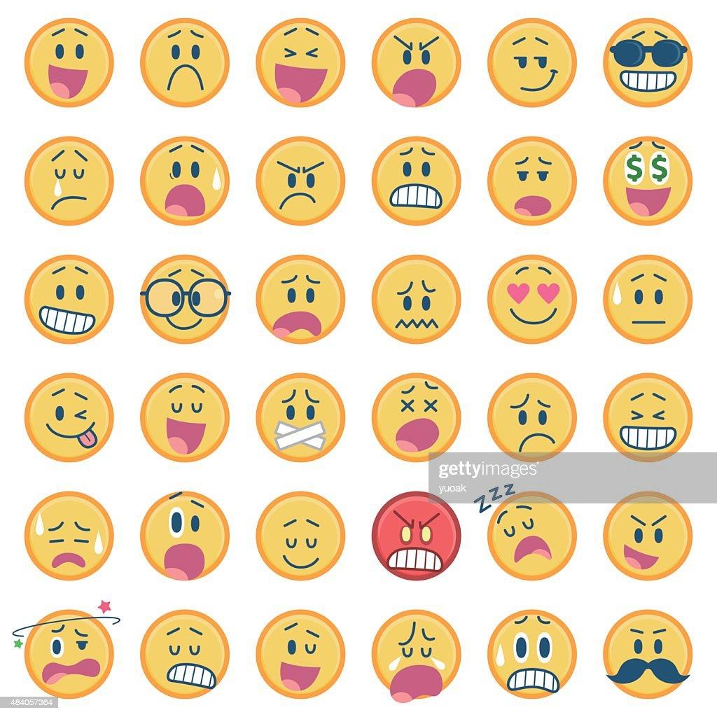 Set of smiley icons : stock illustration