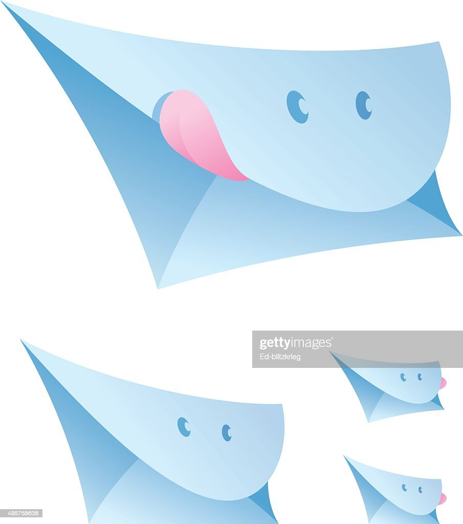 Set of smiling envelopes