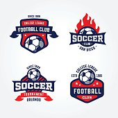 Free football badge template psd clipart and vector graphics set of soccer football badge designs maxwellsz