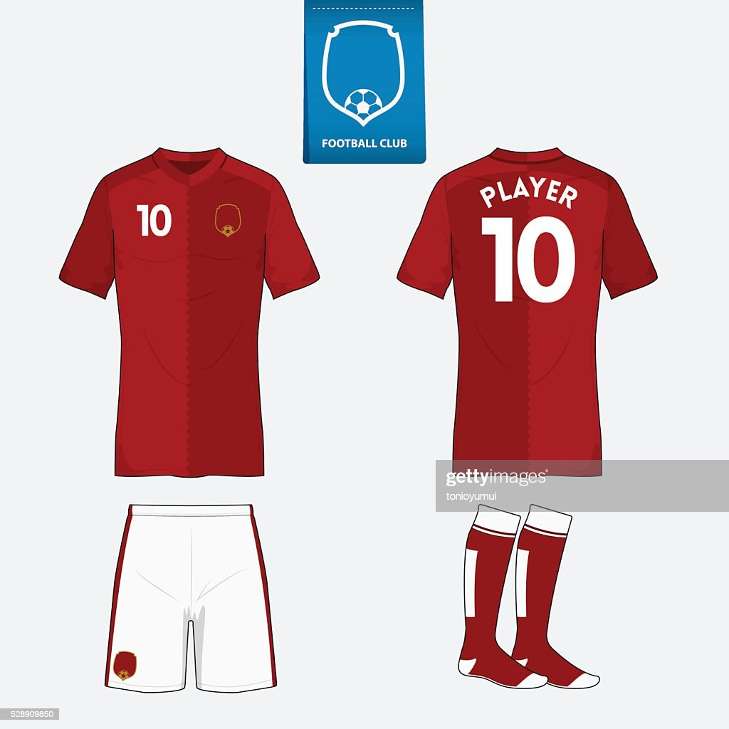 Set of soccer or football kit template. Vector Illustration.