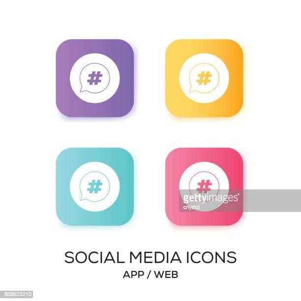 Set of Social Media App Icon