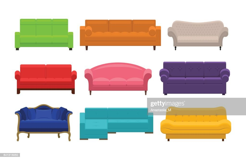 Set of sofa, couches, settee