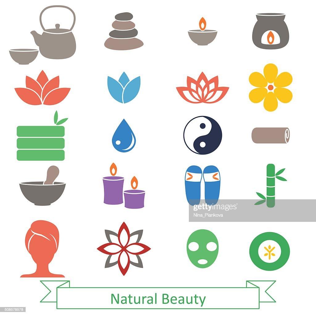 Set of spa icons. : Vectorkunst