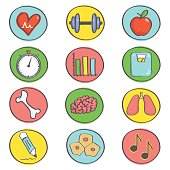 Set of sport and health icons