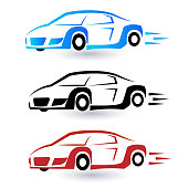 Set of sport cars icon vector image