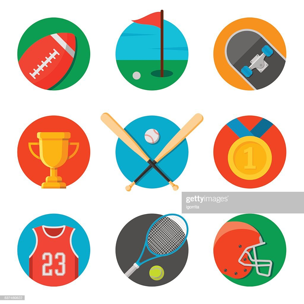 set of sport icons. flat style vector illustration