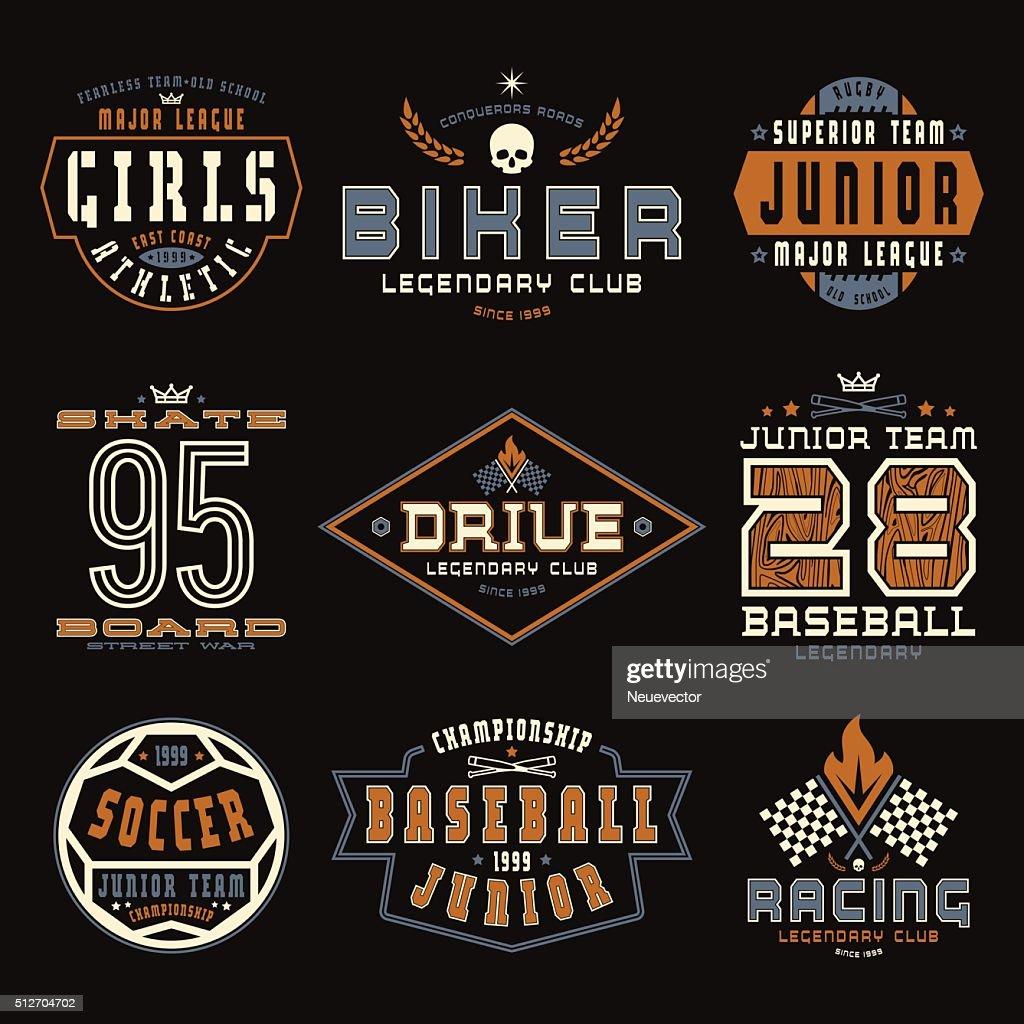 Set of sports emblems