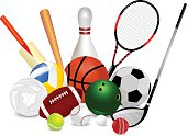 Set Of Sports Equipment