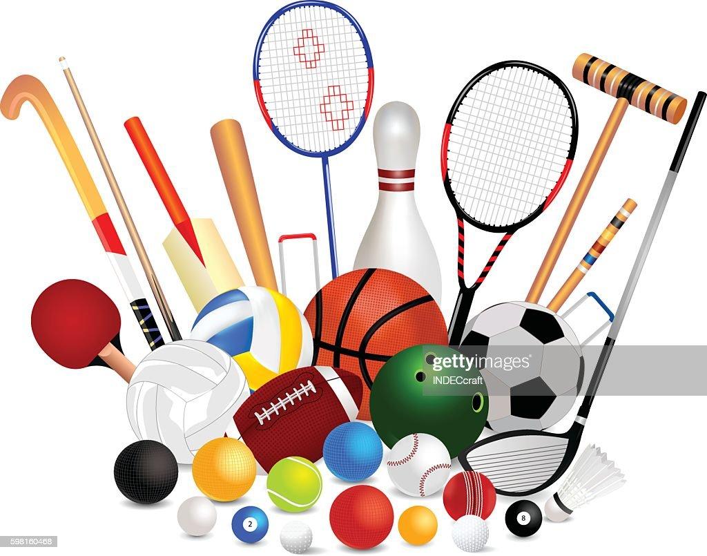 Conjunto de equipo deportivo : Ilustración de stock
