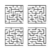 set square mazes for children simple