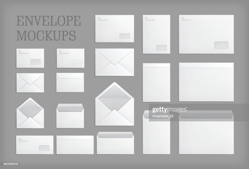 Set of standard vector envelopes.