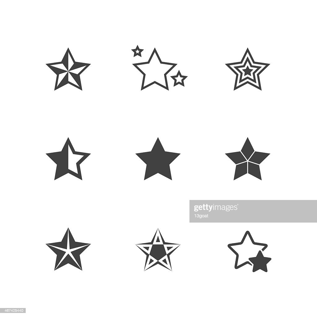 Set of Star Icons