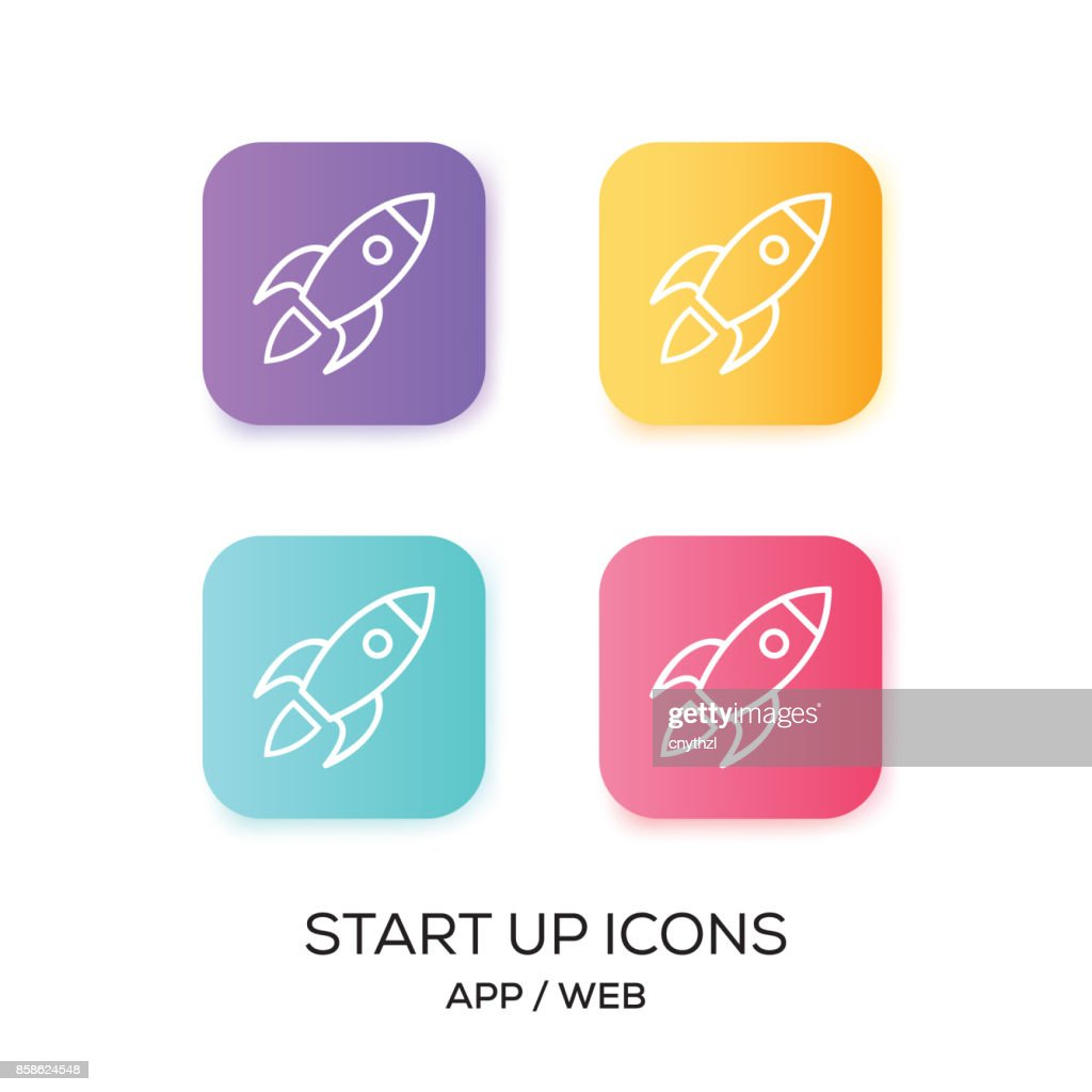 Reihe von Start-UP App-Symbol : Stock-Illustration