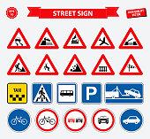 set of street sign