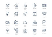 Set of stroke smart home icons