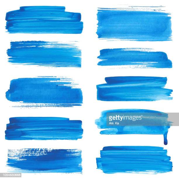 set of strokes - paint textures stock illustrations