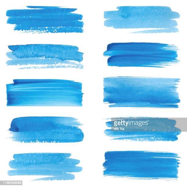 satz von strichen - färbemittel stock-grafiken, -clipart, -cartoons und -symbole