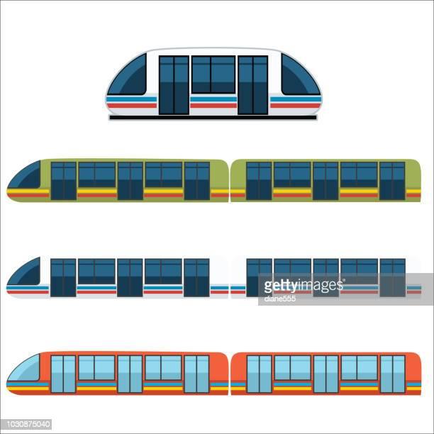 Set of Subway Trains