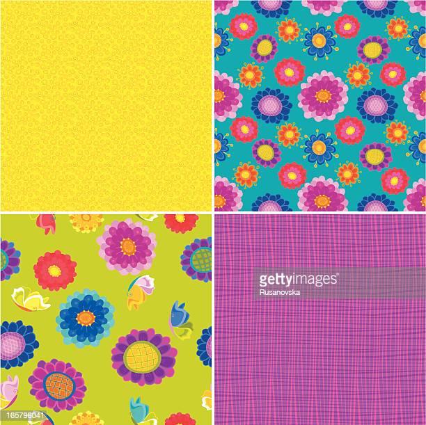 Set di pattern floreale estivo