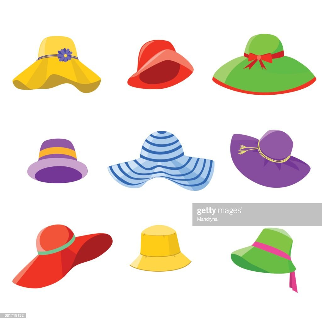 Set of summer hats women