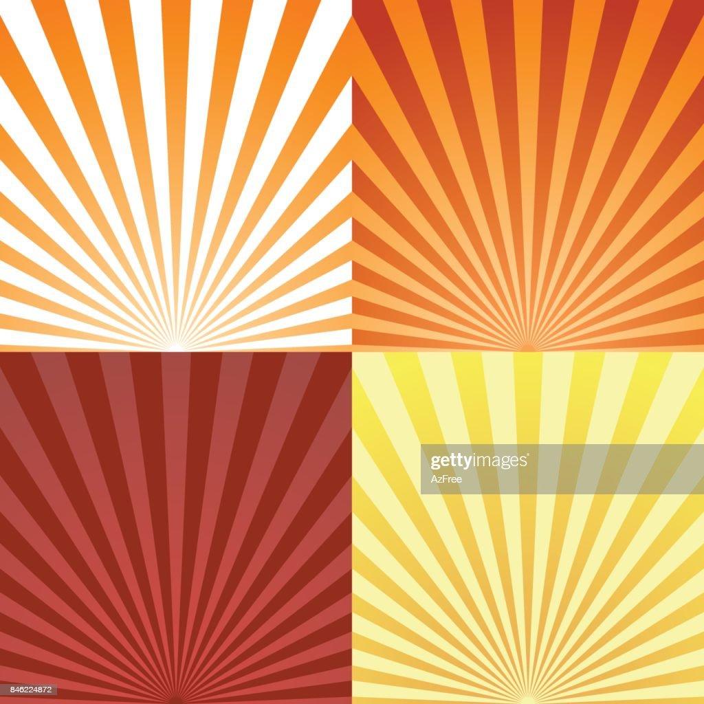 Set of sun beam ray sunburst pattern background summer. Shine Summer pattern