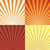 Set of sun beam ray sunburst pattern background summer. Shine Summer pattern