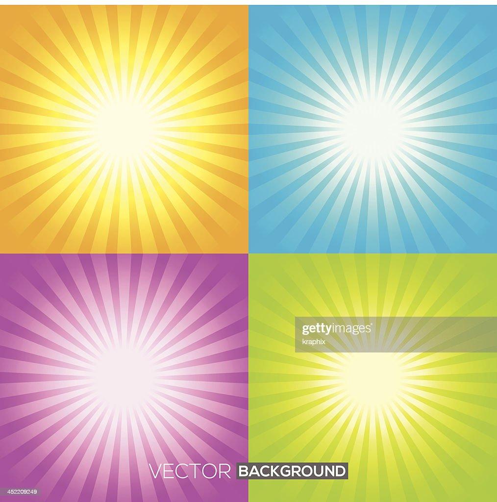 Set of Sunburst backgrounds