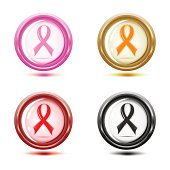 set of support ribbon icons.