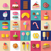 Set of sweet food icons