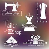 Set of tailoring logos, labels, badges.