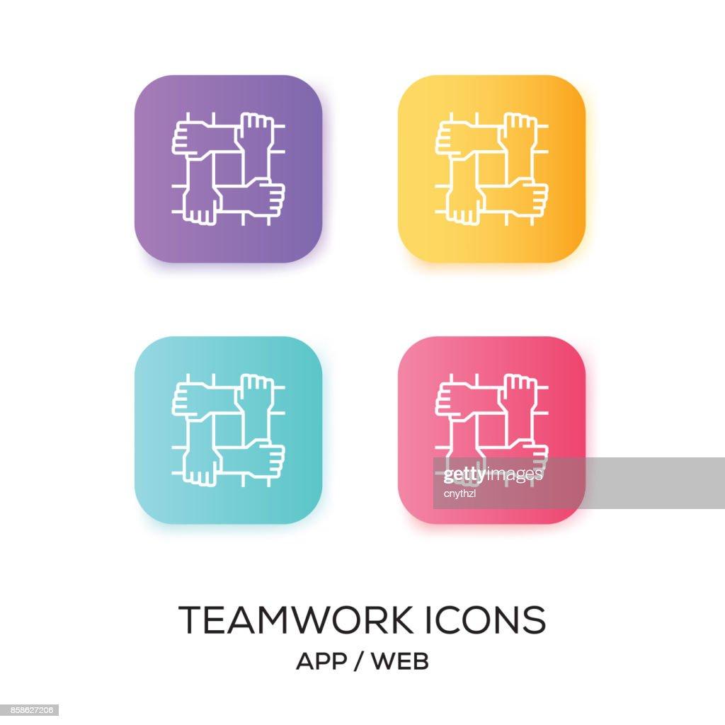 Satz von Teamwork-App-Symbol : Stock-Illustration
