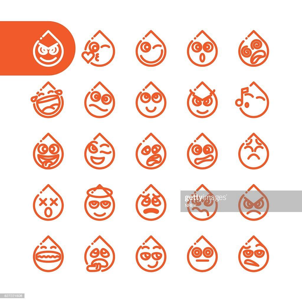 Set of tear dpor emoticons