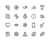 Set of Technology Line Icons
