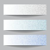 Set of Technology pixel banners
