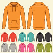 Set of templates colored sweatshirts for women.