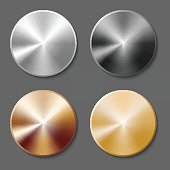 Set of templates metal button