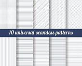 Set of ten subtle seamless patterns.