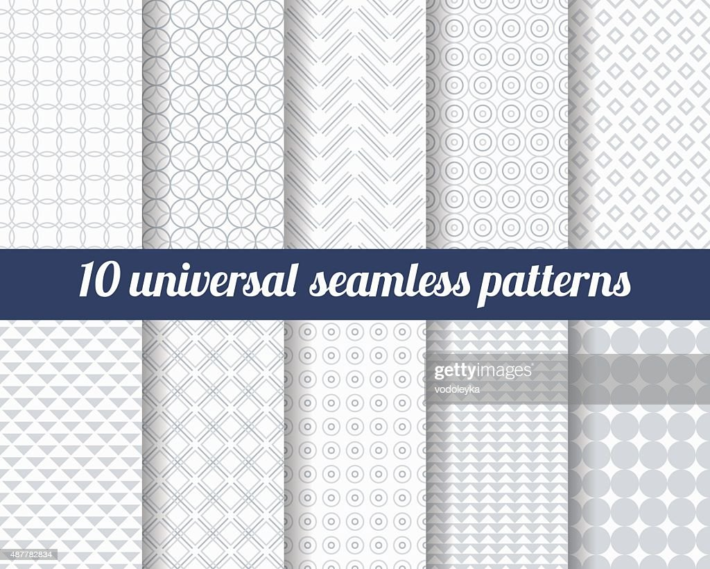 Set of ten subtle seamless patterns.