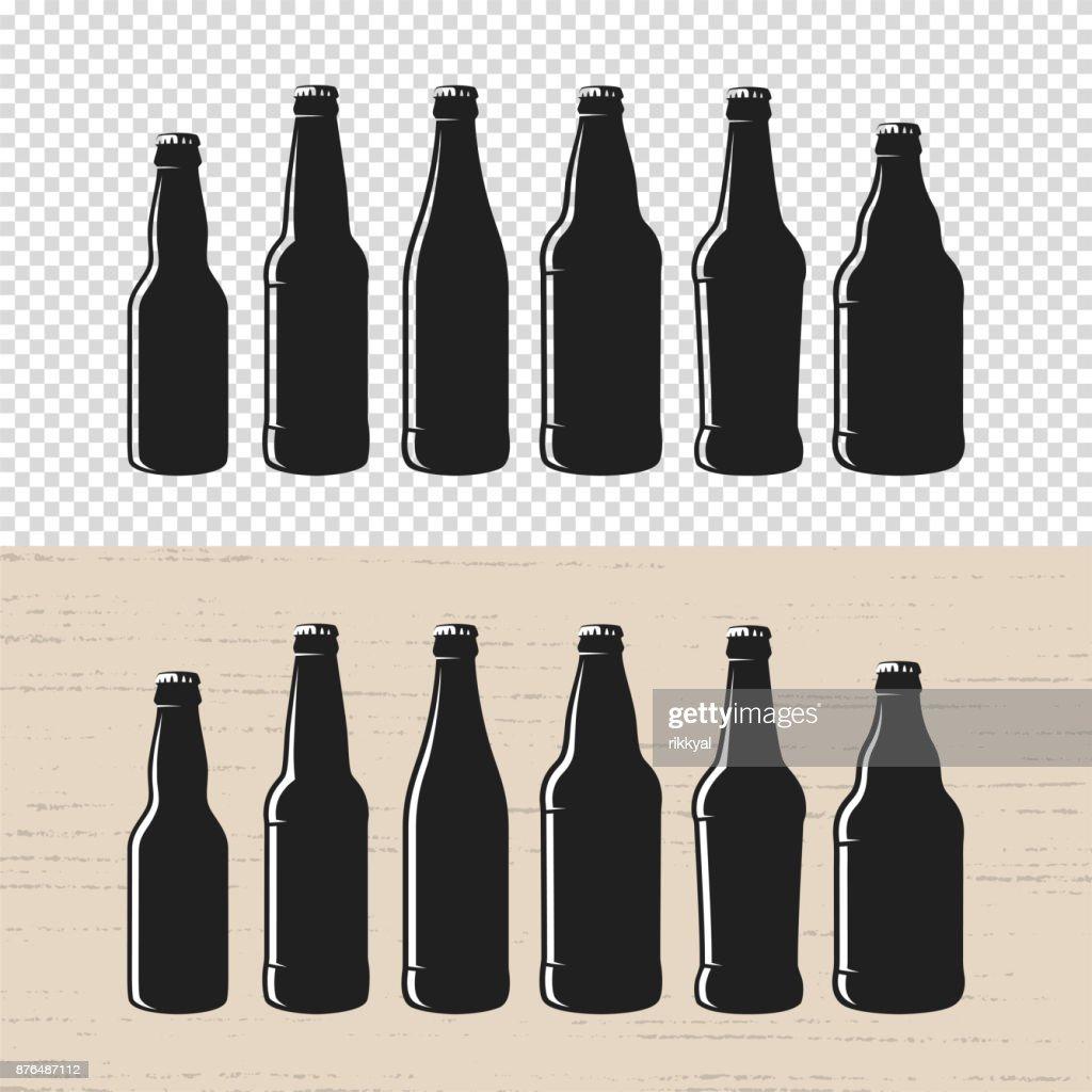 Set Of Textured Craft Beer Bottle Label Designs Vector Art Getty