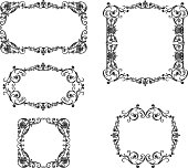 Set of the ancient decorative frames